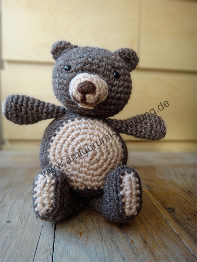 amigurumi teddy anleitung kostenlos f r anf nger. Black Bedroom Furniture Sets. Home Design Ideas