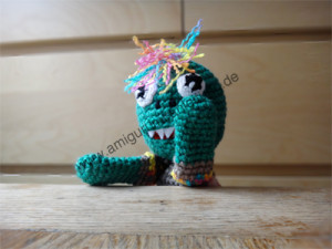Die Arme des Amigurumi-Monsters Oliver