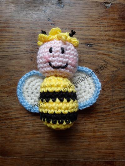 So sieht eine Amigurumi-Biene aus