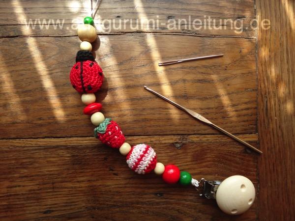 Schnullerkette mit Perlen