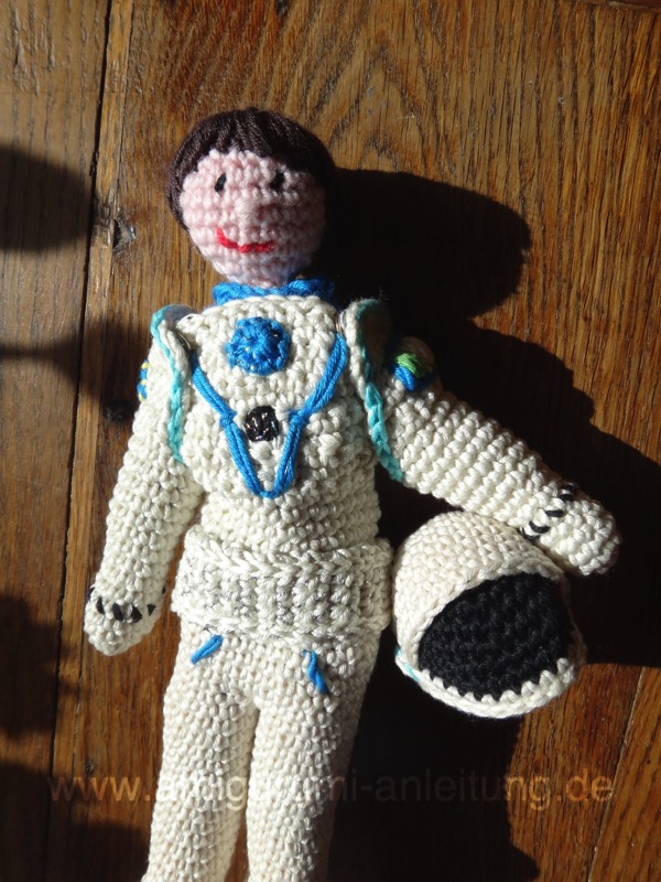 Amigurumi Astronautin Samantha Cristoforetti
